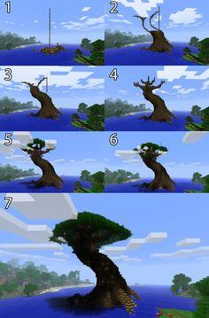 Pix For > Minecraft Giant Tree City