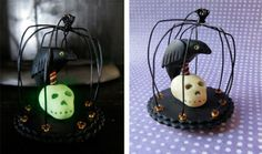 Halloween Cage, Crow and Skull   Polyform Products Company