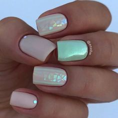 Fractured Glass Manicure design summer