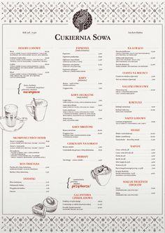 Great pattern work. // Art of the Menu: Sowa Café