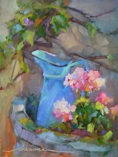 A Perfectly French Pitcher and Who Are You Working For?, painting by artist Dreama Tolle Perry
