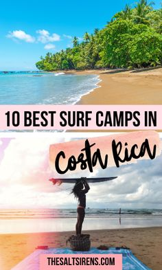 The 10 best surf camps in Costa Rica including where to stay if you're a complete beginner, intermediate surfer, or already know how to surf. This Costa Rica experience is unforgettable. #CostaRica #Surfer #Surf #Travel Top Travel Destinations, Budget Travel, Travel Tips, Travel Info, Travel Abroad, Travel Goals, Travel Ideas, America And Canada, South America Travel