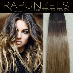 """Remy dip dye ombre stick tip, i tip micro ring human hair extensions 16"""" 18"""" 20"""" in Health & Beauty, Hair Care & Styling, Hair Extensions & Wigs   eBay"""