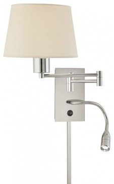 1 Light Swing Arm Wall Lamp W Reading Contemporary Sconces Lbc Lighting