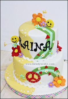 Hippie Cake Vancouver Designer Cakes Pic 15 Hippie Cake, Designer Cakes, Cake Designs, Cake Ideas, Vancouver, Kid Stuff, Shower Ideas, Sweet Treats, Birthday Cake