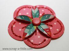 SCRAP A LITTLE!: Tutorial for simple dahlia flowers