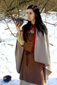 Viking cloak for woman medieval pattern by SlavMedievalShop, $89.00