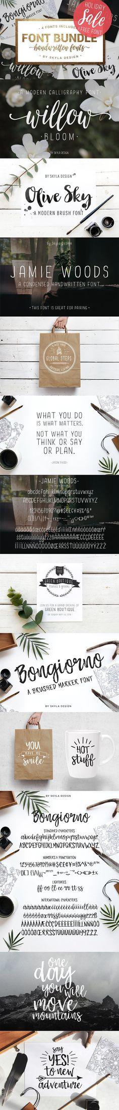 Holiday SALE & free font!. Script Fonts. $25.00