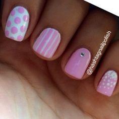pink polka dots and stuff