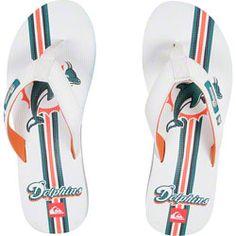 NEW ARRIVAL: Miami Dolphins White & Orange Quicksilver Flip Flop Sandals  http://www.fansedge.com/Miami-Dolphins-Wihte-Orange-Quicksilver-Flip-Flop-Sandals-_1249397012_PD.html?social=pinterest_pfid26-17722