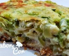 Omelete de Forno de Abobrinha e Alho Poró (Dukan)