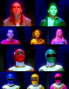Power Rangers Zeo Vermelho Tommy Verde Adam Azul Rocky Amarelo Tanya Rosa Kat