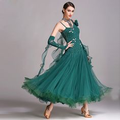 Ballroom Waltz Competiton Dress For Women Stage Waltz Tango Dancing Wear Lady's Standard Ballroom Dance Dresses #Affiliate
