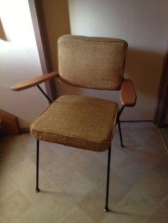 Mid 50s Fler iron frame TVS chair in original upholstery