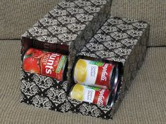 Learn how to organize canned food with these easy canned food storage ideas. Over 15 canned food storage hacks that will get your pantry in order. Dress Up Storage, Can Storage, Pantry Storage, Storage Hacks, Kitchen Storage, Storage Solutions, Storage Ideas, Kitchen Pantry, Recipe Organization
