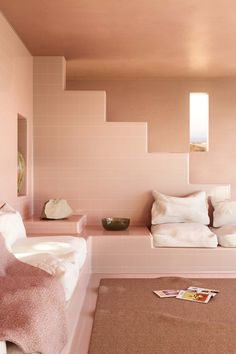 charlotte taylor and hannes lippert imaged an entirely tiled house 04 Organic Architecture, Interior Architecture, Motion Design, Cgi, Charlotte Taylor, Function Room, Desert Homes, Small Studio, Contemporary Design