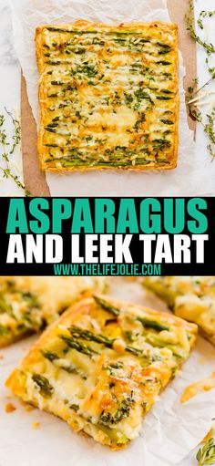 This Asparagus, Leek and Egg Tart is a quick and easy brunch recipe that is full of great flavor! Made with fresh herbs, puff pastry and gruyere cheese, it's an awesome dish to pass! Leek Recipes, Quiche Recipes, Vegetarian Recipes, Cooking Recipes, Dishes Recipes, Easy Brunch Recipes, Healthy Brunch, Asparagus Tart, Asparagus Recipe