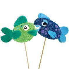 vekkulit kalat on valmistettu styrox-soikioista, jotka on päällystetty helmi- ja silkkimassoilla.