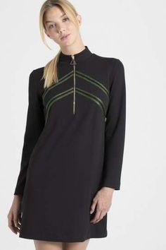 bc619c2de2d759 Ana Alcazar jurk met glitterstrepen
