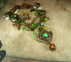 Gypsy Rosary bohemian necklace chunky turquoise di vintagesparkles
