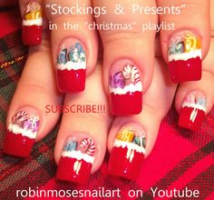 CLICK HERE TO OVER 100 DIFFERENT CHRISTMAS NAIL ART DESIGNS THAT ARE THE CUTEST EVER! SPREAD THE WORD!!!!                            ...