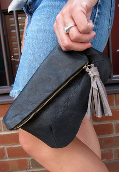 Little leather clutch!