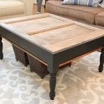 Love this! An old door becomes a pottery barn-worthy coffee table!