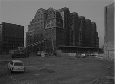 Abrissbagger, Dresden, 1991