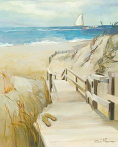 Coastal Escape Art Poster Print by Marilyn Hageman, 16x20