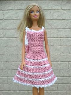 crochet barbie doll clothes patterns - iTs Home Ideas Crochet Barbie Patterns, Crochet Doll Dress, Barbie Clothes Patterns, Crochet Barbie Clothes, Doll Clothes Barbie, Doll Dress Patterns, Clothing Patterns, Crochet Dresses, Blouse Patterns