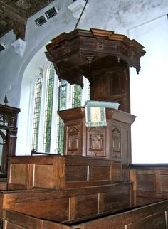 St. Saviour's Church - triple decker pulpit