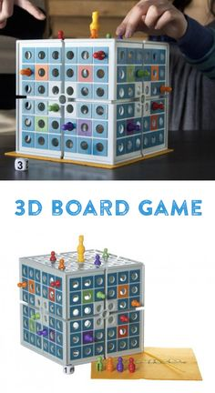 """Game of strategy. Roll the die to move your pawn around the cube. Reach the King piece at the top to rotate the cube and """"squash"""" your opponents. Be the last player with a pawn on the cube to win."""