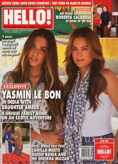 Yasmin and Amber, mother and daughter modelling together.