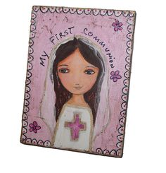 On Sale today 25% off at checkout  First Communion Girl with