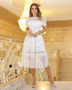 The best wedding dresses from paris haute couture week. White Outfits, Classy Outfits, Pretty Outfits, Dress Skirt, Lace Dress, White Dress, Casual Dresses, Fashion Dresses, Formal Dresses