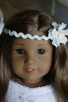 Floral Crown Head band American Girl Doll Clothes. $4.00, via Etsy.