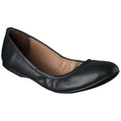 Women's Mossimo Supply Co. Ona Side Scrunch Ballet Flat - Black