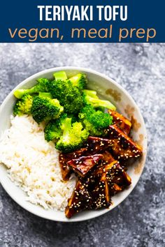 Sweet, tangy, and full of umami, this teriyaki tofu is a delicious vegan weeknight dinner option! Seared until golden, then smothered in an irresistibly sticky sauce, this tofu is hard to beat. Great for meal prep and reheating! #sweetpeasandsaffron #mealprep #vegan Best Lunch Recipes, Tofu Recipes, Dinner Recipes, Amazing Recipes, Cooking Tofu, Cooking Wine, Vegetarian Meal Prep, Vegetarian Recipes, Teriyaki Tofu