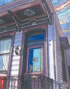 1000 Images About New Orleans Watercolor On Pinterest French Quarter Shotgun House And New