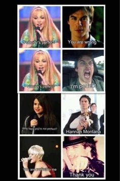Epic! Damon Salvatore, Hannah Montana, Selena Gomez, and Pink <3