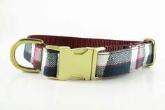 Cranberry Plaid Collar