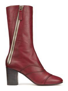 Chloé Lexie Zippered Leather Mid-Calf Boots