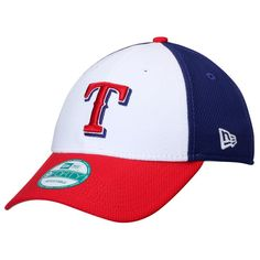 Texas Rangers New Era Perforated Block 9FORTY Adjustable Hat - White/Red - $22.99
