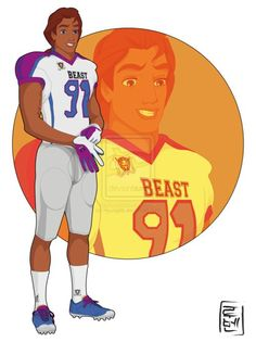 Disney University Student - The Beast/Prince Adam. The quarterback of the football team of school. He's egoistical, cocky and rude but thanks to a girl, he is changing all that. You do not know who this girl is, but Adam gave her his team jacket.