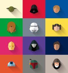 Star Wars minimalista | IdeaFixa