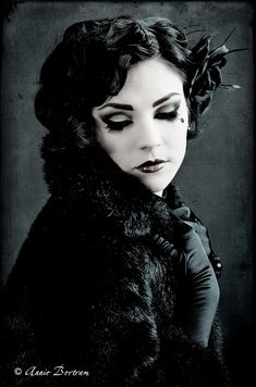 Dark glamour with vibes of both vintage and goth beauty. #vintage #goth #gothic #black #Halloween #beautiful #portrait