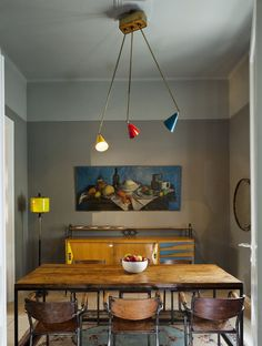 modernist dining area #interior design #dining table