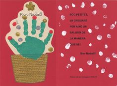 BUSCANT IDEES: POEMES DE NADAL- POEMAS DE NAVIDAD - CHRISTMAS POEMS Easy Christmas Ornaments, Frugal Christmas, Christmas Poems, Christmas Crafts For Gifts, Christmas Activities, Christmas Baby, Toddler Crafts, Crafts For Kids, Hand Print Tree