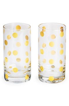 kate spade new york 'pearl place' crystal highball glasses (set of 2) available at #Nordstrom