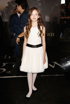 Former Ralph Lauren model Mackenzie Foy looked youthful and elegant in head-to-toe Ralph Lauren Childrenswear at last night's Twilight Premiere.